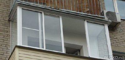 Балкон 6 м (8 ств.) рамы раздвижные пвх отк стеклопакет +сай.