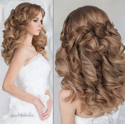 Объёмные прически на длинные волосы