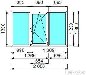 Окно пвх plafen шестикамерное 1400х1300 двустворчатое, ширин.