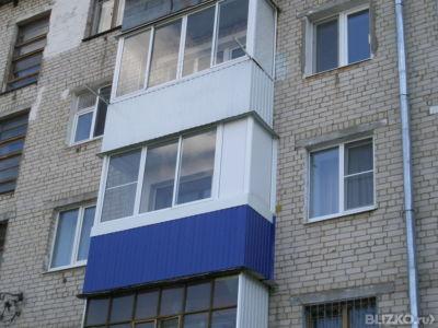 Обшивка и остекление балконов и лоджий/ хрущевка от компании.