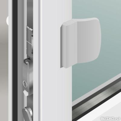Ручка для балконной двери (обратная) от компании технопласт .