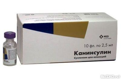 MSD Канинсулин, ветеринарный инсулин для кошек и собак, 2,5 мл, в ...