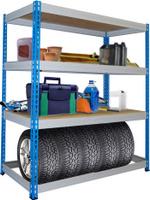 Стеллаж складской МКФ 15615-2,0 (200x152x61 см) 300 кг на полку, 5 полок 15